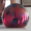 Rainbow Oil Spot Favrile American Glass Paperweight