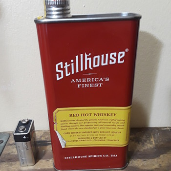 STILLHOUSE RED HOT WHISKEY screwtop tin - Advertising