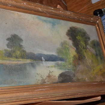 William Chandler Pastel Painting Unknown Mystery - Fine Art