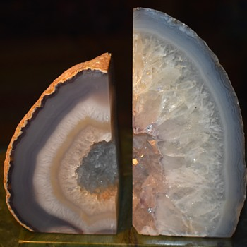 Cut and Polished Geodes - Bookends? - Gemstones