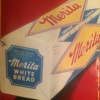 1950's embossed Merita Bread Sign - Advertising