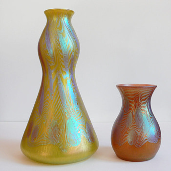 Lötz Phänomen - Citrongelb 1902/1903 Gre 3/430 - Metallrot Gre 3/430 - Art Glass