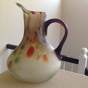 Czech Spatter Glass Jug? - Art Glass