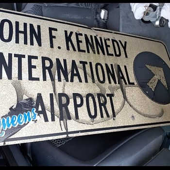 Kennedy airport sign. - Signs