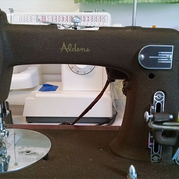 Aldens sewing machine.