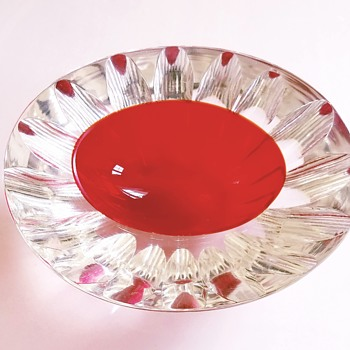 Mid century Murano faceted sommerso caviar bowl