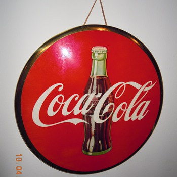 "1950's Coca-Cola 9"" Celluloid Sign - Coca-Cola"