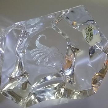 Val St Lambert Scorpio paperweight  - Art Glass