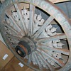 asian wooden wagon wheel