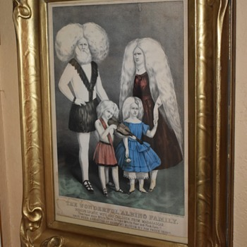 Albino Family Print - framed!