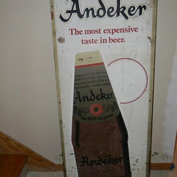 Vintage Andeker barn sign