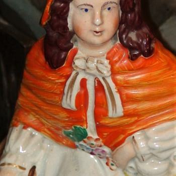 Staffordshire 1870s Red Riding Hood - Figurines