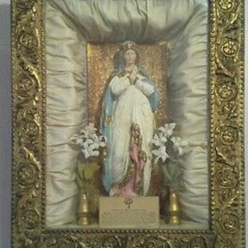mother mary shadow box