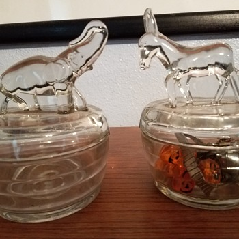 Democrat/Republican icons glassware