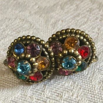 Pretty Coro Earrings - Costume Jewelry