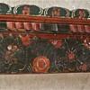 Antique Primitive Painted German Long Rack Approximately 5 Feet Long