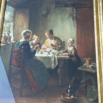 Mother feeding child Lithograph by Bernard DeHoog