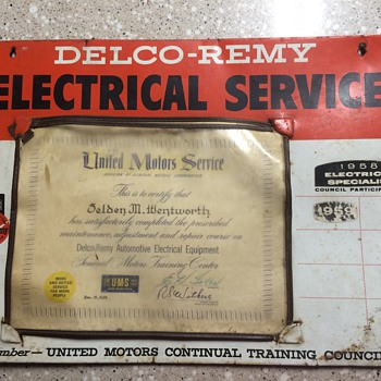 Delco-Remy Automotive Electrical Equipment certification. - Petroliana