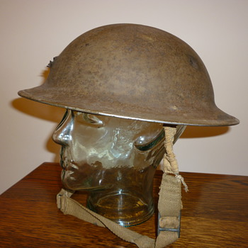 British WWII steel helmet from Dunkirk.