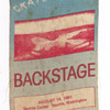 Grateful Dead stage pass, 1981