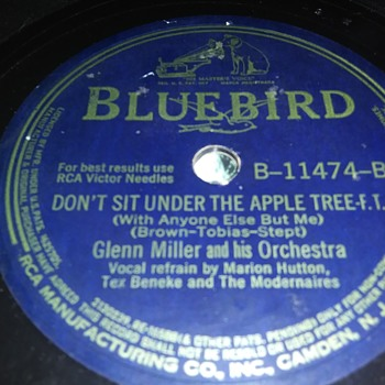 Mr. Glenn Miller...On 78 RPM Shellac - Records