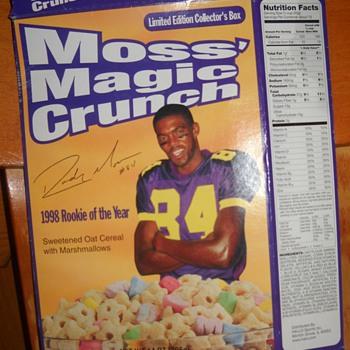 Randy Moss Magic Crunch Cereal Box - Football