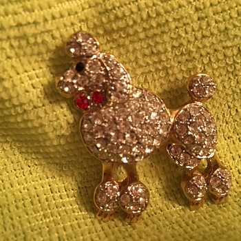 Poodle Pin - Costume Jewelry