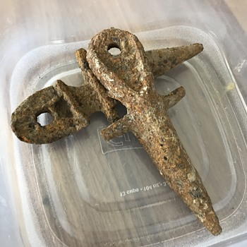 What are these rusted pieces of hardware?