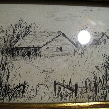 ART -- Small Ink Drawing - Fine Art
