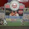 coca cola baseball  clock