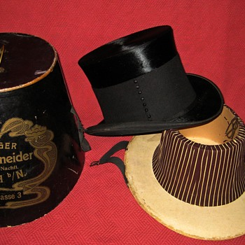 Victorian Era Mourning/Funeral Top Hat - Hats