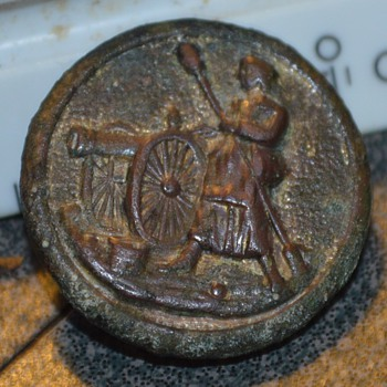 Molly Pitcher Uniform Button - Military and Wartime