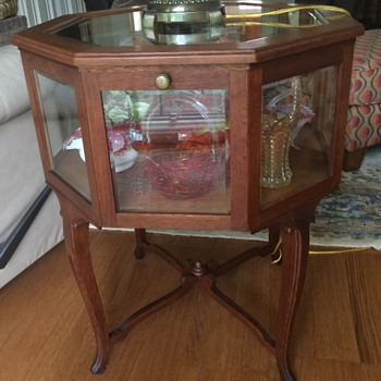 Octagon shaped glass table, please identify