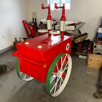 Vintage Texaco Dual Lubester Cart - Petroliana