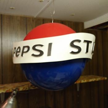 Pepsi Stuff Rotating Globe Store Display - Advertising