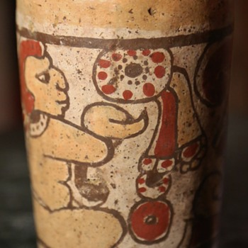 Mayan Cylinder Cup - repro, i assume... - Pottery
