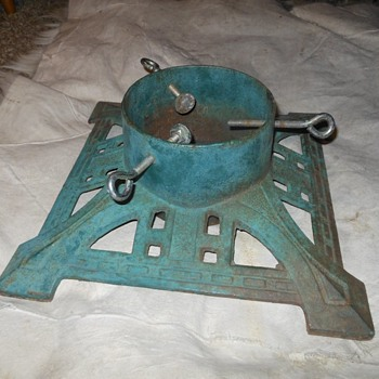 Vintage Cast Iron Christmas Tree Stand - Christmas