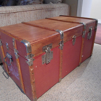 Late 50's French Trunk - Furniture