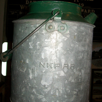 Nickel Plate Railroad water can - Railroadiana
