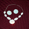 Aqua Blue Necklace/Earrings set....