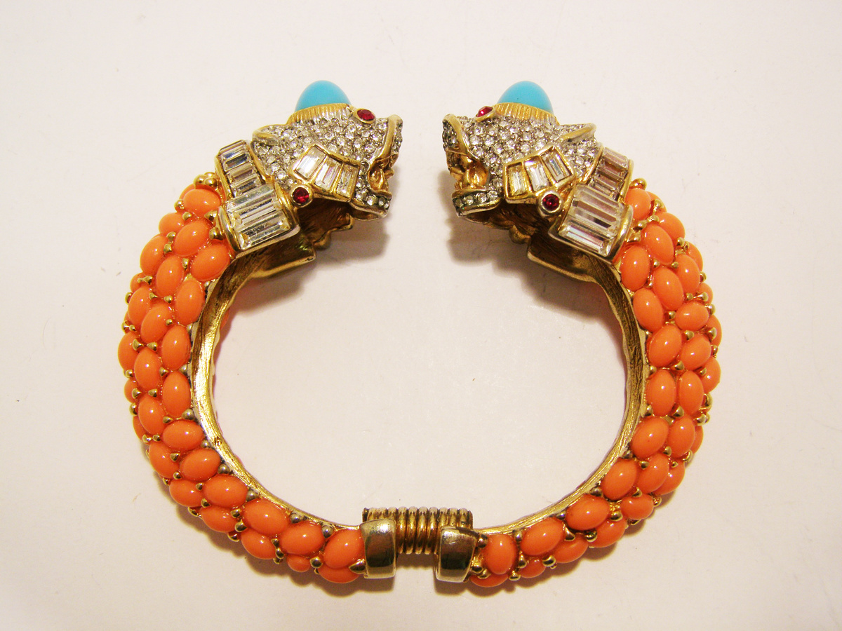 Kenneth Jay Lane Coral And Turquoise Bracelet Coral/turquoise ReoK59
