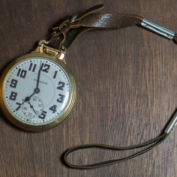 1936 Hamilton 992 Elinvar Railroad Pocket Watch - Pocket Watches