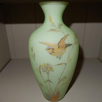 Uranium glass vase. - Glassware