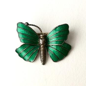 Sterling silver butterfly brooch - Fine Jewelry
