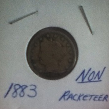1883 Non-Racketeer Liberty Head Nickel - US Coins