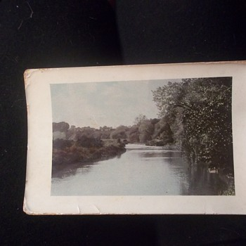 Vintage German Tinted Real Outdoor Photo,Heavily glossed, Edges turned up a little. - Postcards
