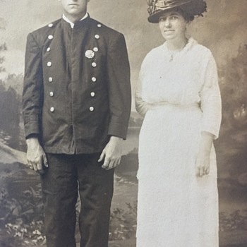 1900's RPPC FIREMAN IN UNIFORM - Postcards