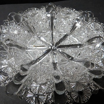 Davidson Pressed Glass Dishes - Rd 176566 -Lady Chippendale Pattern - Glassware