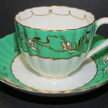 Antique Cup and Saucer - Fluted Shape - China and Dinnerware