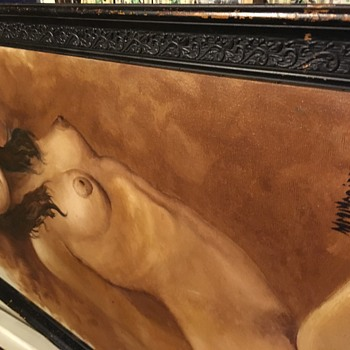 Unknown nude original painting - Fine Art